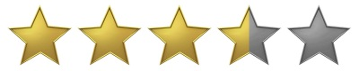 Image result for 3.5 stars out of 5